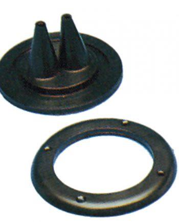 allpa Kabeldoorvoer / Balg dubbel met losse montagering, gatmaat Ø72mm, buitenmaat Ø105mm, H=52mm