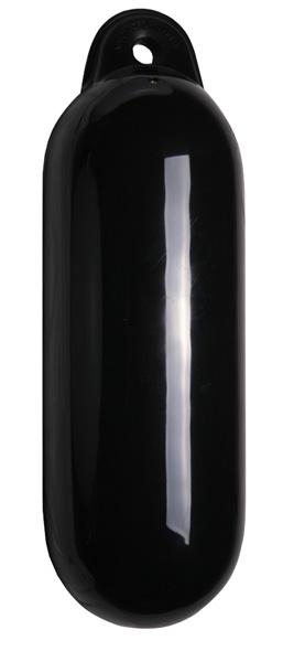 allpa Dropfender, Ø120mm, L=450mm, zwart (maat 1) (opblaasbaar met kogelventiel)