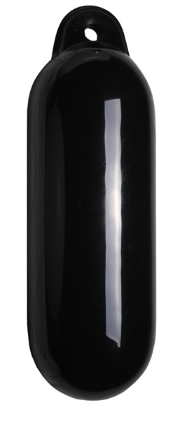 allpa Dropfender, Ø210mm, L=630mm, zwart (maat 3) (opblaasbaar met kogelventiel)