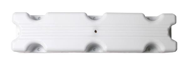 allpa Blockfender, 500x120x70mm, 1,4kg, wit (maat 1)