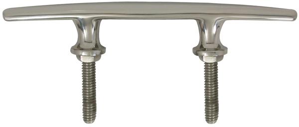 allpa RVS Klamp, boutmontage, A=203mm, B=25mm, C=83mm, D=51mm