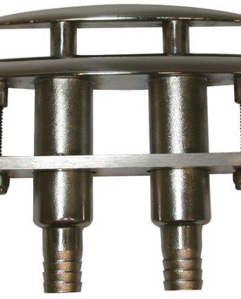 allpa RVS Verzinkbare klamp (compleet met plastic adapter voor waterafvoer)