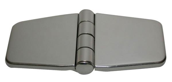 allpa RVS Afgedekt kastdeurscharnier, 76x37x2mm