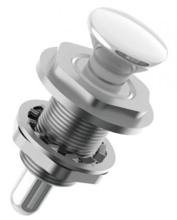 allpa RVS Drukknopsluiting voor omhoog scharnierende deksels, A=9,5, B=56,5mm, C=28mm, D=13mm