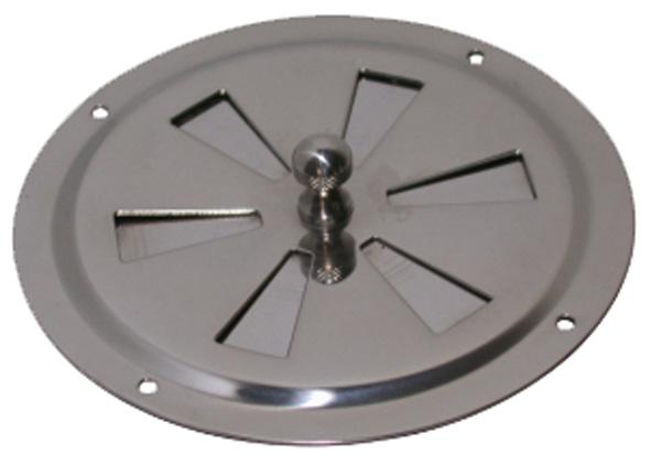 allpa RVS Ventilatierozet met draaischijf, Ø102mm