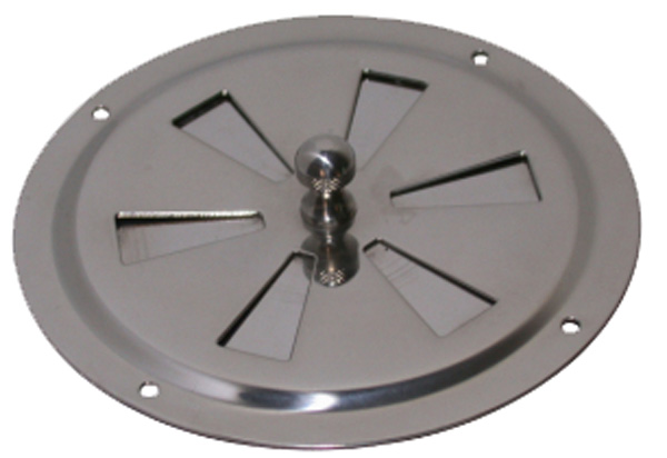 allpa RVS Ventilatierozet met draaischijf, Ø127mm