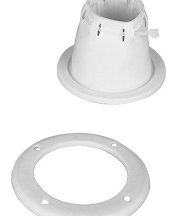 Kabeldoorvoer wit verstelbaar met ring, 85 x 105mm