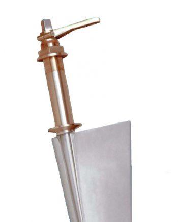 Radice Bronzen Roer type 14 /10P, voor vlakke bodem. bootlengte: 8-12m