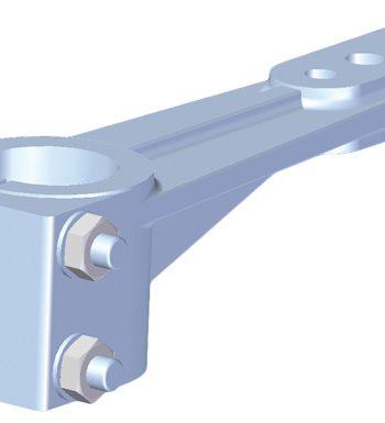 Allpa Aluminium roerarm voor roerkoning D=40mm
