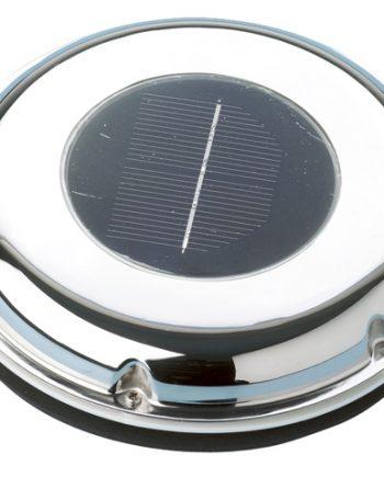 allpa RVS Ventilator op zonne-energie, ±20m³/h, met oplaadbare accu & schakelaar, blaast of zuigt