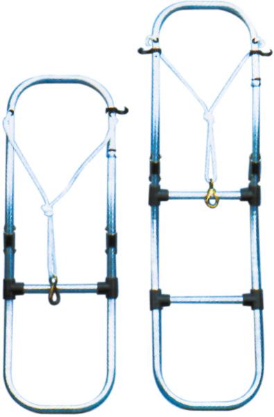 allpa Aluminium Zwemtrap voor opblaasboot, 3-treden, afm. uitgeklapt 300x930mm, buis √ò25mm