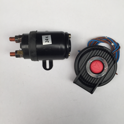 1 X Relais 1200-1500w/12v incl Elektr.voetschakelaar Rood