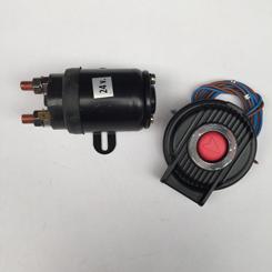 1 X Relais 1200-2000w/24v incl Elektr.voetschakelaar Grijs