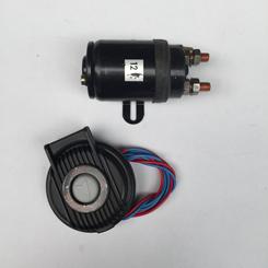 1 X Relais  500-1000w/12v incl Elektr.voetschakelaar Grijs