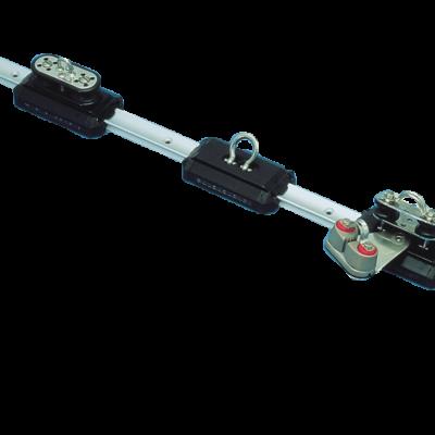 (A) allpa Aluminium kogelgelagerde overloopwagen met RVS dekplaat + reguleerschijven