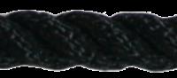 Allcord-1  Ø12mm Zwart Geslagen Polyester; eco