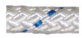 Allcord-17 Ø8mm Gevlochten schoot- & vallenlijn Easy Wit m.blauwe merkdraad