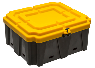 Allpa Accubak  XXL  660x710x300mm (bakmaat) > 200Ah Polypropyleen-benzine en  zuurbestendige bak