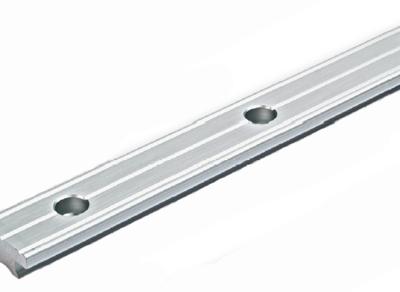 Allpa Aluminium T-rail 40x8  gatmaat Ø8mm  gatafstand 80mm (zilver geanodiseerd)