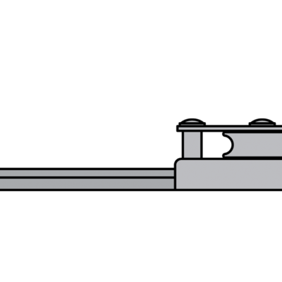 Antal Aluminium eindfitting voor T-rail 32x6 (met schijf)