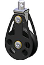Blok Dubbel 10mm-lijn Ø45mm