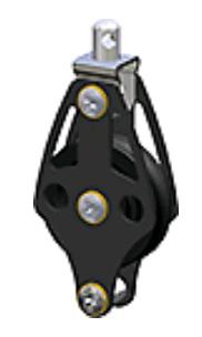 Blok Enkelsch. 10mm-lijn D45mm Wartelend met Hondsvot