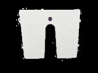 Bracketplaat wit met kloof; 450x360mm