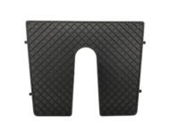 Bracketplaat zwart met kloof; 450x360mm