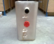 Brandstoftank RVS 50Ltr  staand  50 x 28 x 35cm