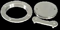 Dekplaat RVS 316 4 (102mm) incl. sleutel