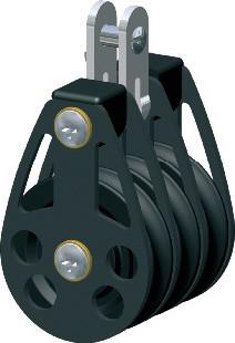 Drieschijfsblok  D65 12mm Lijn vaste