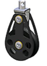 Enkelschijfsblok wartelend D=45mm voor 10mm schoot