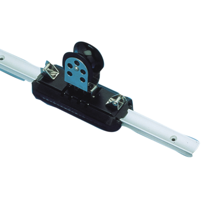 (G) allpa Aluminium overlooprail  L=2000mm  25x16mm  gatmaat Ø5  gatafstand 100mm
