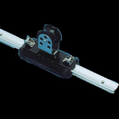 (G) allpa Aluminium overlooprail  L=3500mm  25x16mm  gatmaat Ø5  gatafstand 100mm