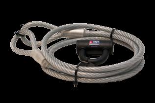 Geplastificeerde Anti-Diefstal-Kabel met slot - L=3m