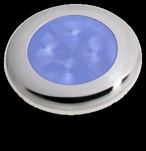 Hella Slim-Line ROUND Oriëntatieverlichting blauw 12V LED RVS gepolijste rand Ø72mm