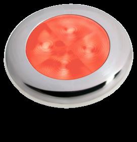 Hella Slim-Line ROUND Oriëntatieverlichting rood 12V LED RVS gepolijste rand Ø72mm