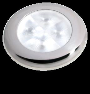 Hella Slim-Line ROUND Oriëntatieverlichting wit 12V LED RVS gepolijste rand Ø72mm