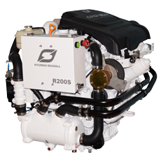 Hyundai Scheepsdieselmotor R200P met TM485A Red.2.40:1