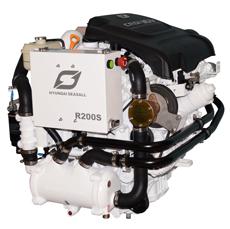 Hyundai Scheepsdieselmotor R200S met Bravo-2X Red.2.00:1*