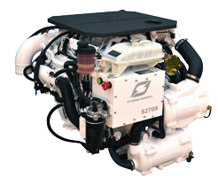 Hyundai Scheepsdieselmotor S270P TURBO & intercooler Technodrive keerk. TM170 reductie 2.50:1