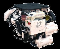Hyundai Scheepsdieselmotor S270P TURBO & intercooler Technodrive keerk. TM485A reductie 2.09:1