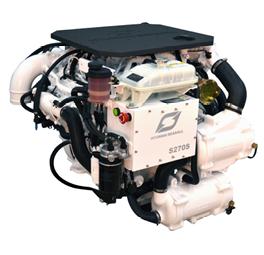 Hyundai Scheepsdieselmotor S270P TURBO & intercooler Technodrive keerk. TM880A reductie 1.53:1