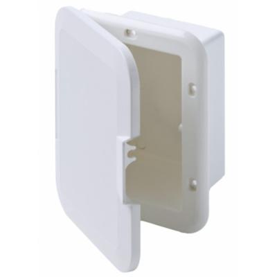Inbouwkastje Wit Kunststof & witte deksel.180x110mm