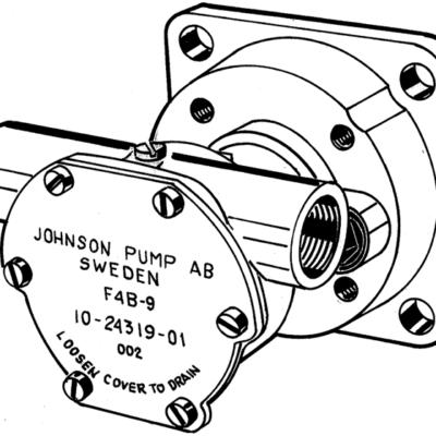 JP bronzen koelwater-Impellerpomp F4B-9 (Nanni 2.45ECO  N2.10  2.50HE  N2.14  3.75HE  N3.21)
