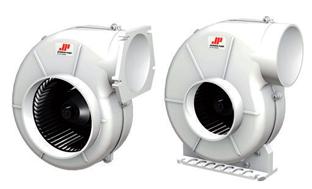 Johnson Pump Afzuigventilatoren voor motorruimtes  Air-V 3-280  24V  2 5A  280m³/h  flensmontage