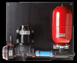 Johnson Pump Aqua Jet Uno Max waterdruksysteem WPS 2.9  12V/90W  11l/min  max. 2.8bar  tank 2l