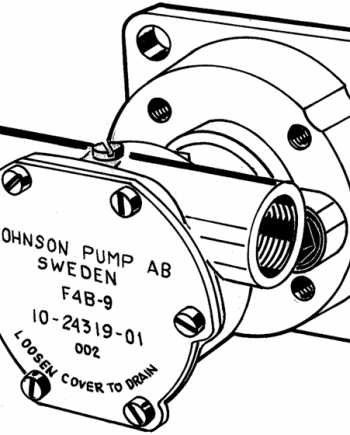 Johnson Pump bronzen koelwater-impellerpomp F4B-9 (Mitsubishi L- & K-serie met Spline PTO)