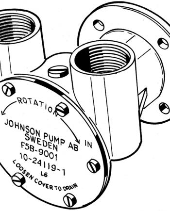 Johnson Pump bronzen koelwater-impellerpomp F5B-9 (Mitsubishi S4S-4DQ  Mercedes OM636  OM616)