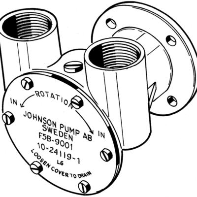 Johnson Pump bronzen koelwater-impellerpomp F5B-9 (Peugeot DTN50  Renault DTR40/50)